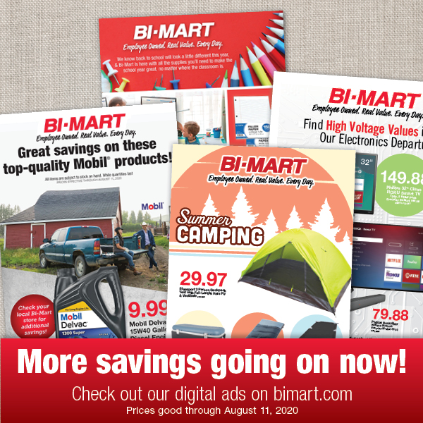 More savings going on now! Check out our digital ads at bimart.com/ad-center