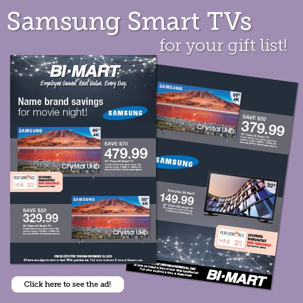 Samsung Smart TVs for your gift list!