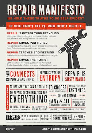 iFixit Self Repair Manifesto