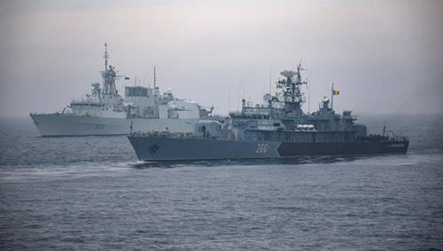 NATO ships exercise with Romanian Navy in the Black Sea