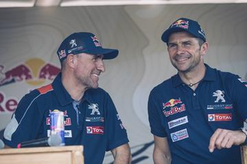 Stéphane Peterhansel and Cyril Despres