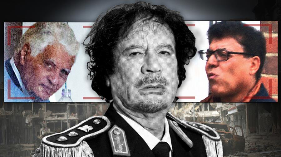 Three Qaddafi henchmen who are wanted for embezzling millions from Libya have been found living in Britain.