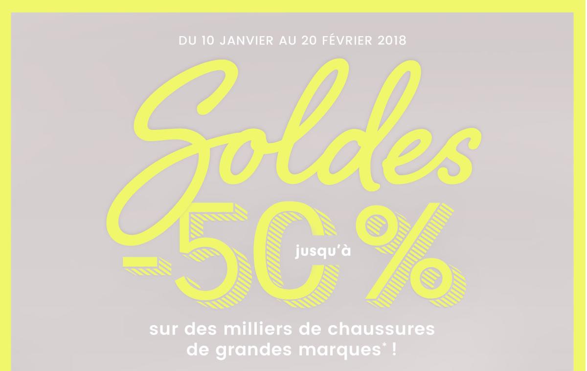 Soldes jusqu'à -50% sur des milliers de chaussures de grandes marques* !