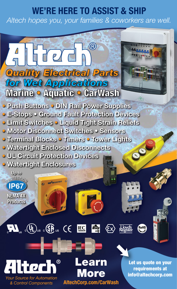 Altech Components for Carwash Manufacturing