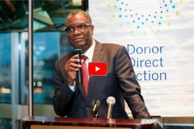 Dr. Denis Mukwege at Donor Direct Action Reception, 2017